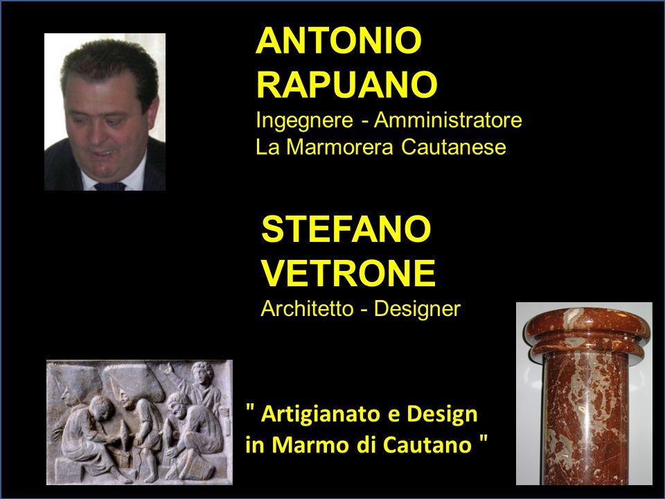 ANTONIO RAPUANO STEFANO VETRONE ʺ Artigianato e Design