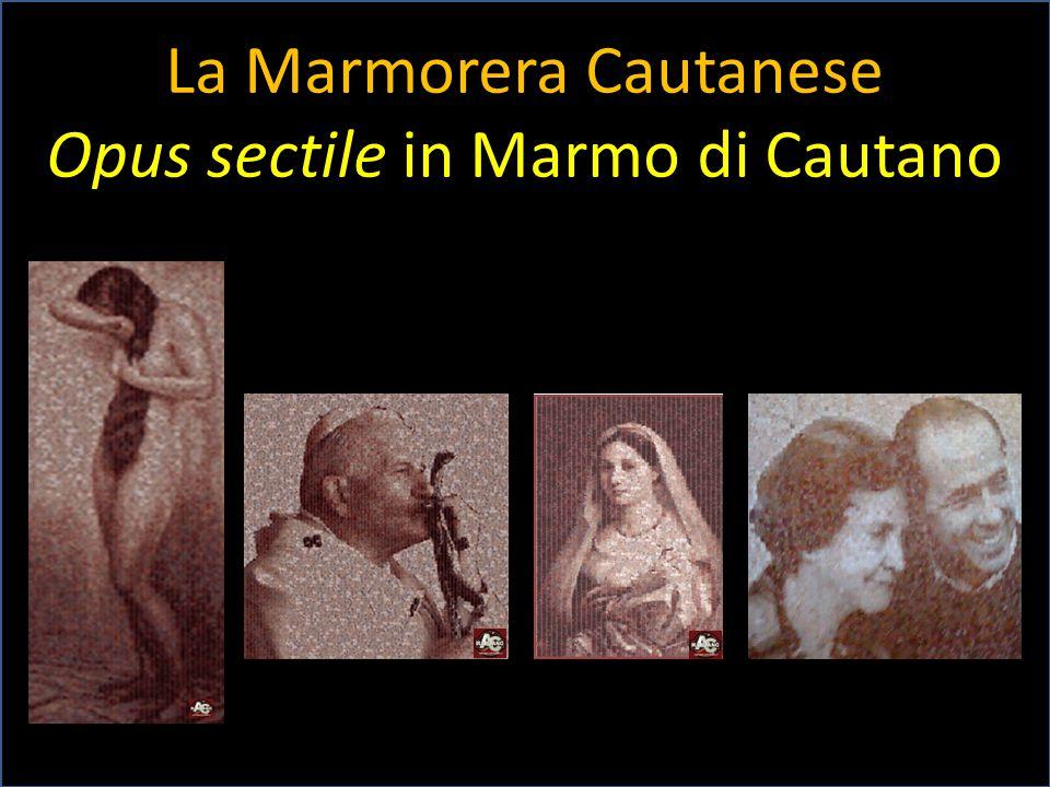La Marmorera Cautanese Opus sectile in Marmo di Cautano