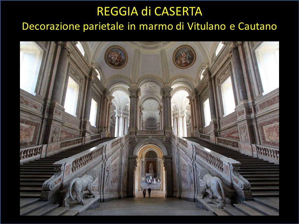 Decorazione parietale in marmo di Vitulano e Cautano