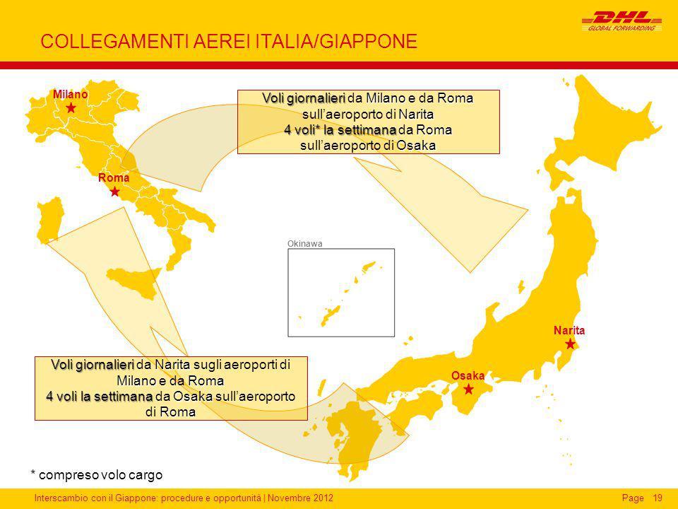 COLLEGAMENTI AEREI ITALIA/GIAPPONE