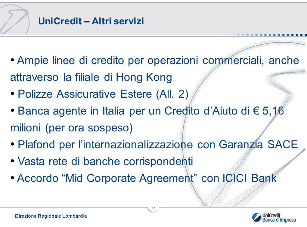 UniCredit – Altri servizi