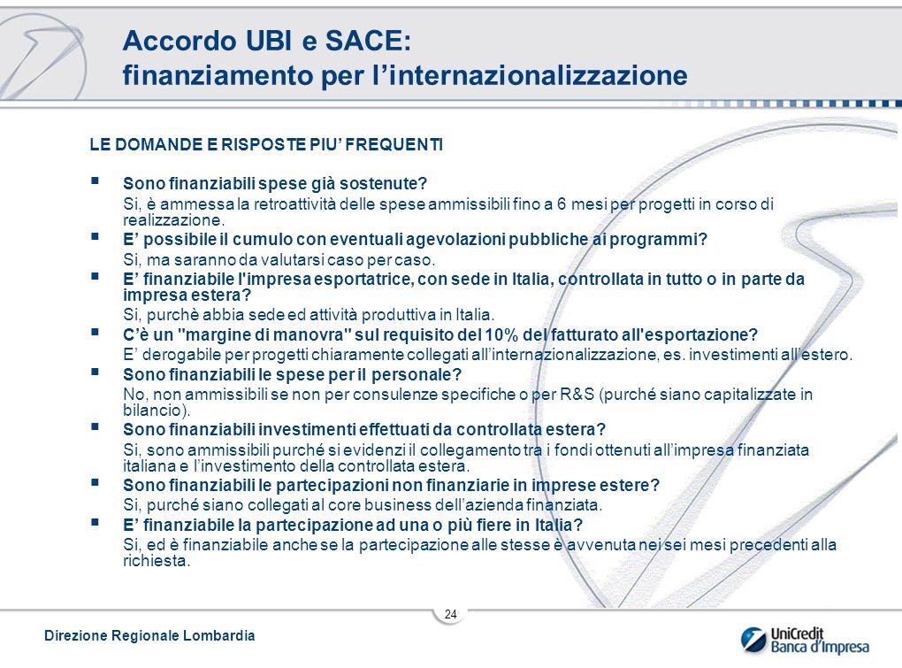Accordo UBI e SACE: finanziamento per l'internazionalizzazione