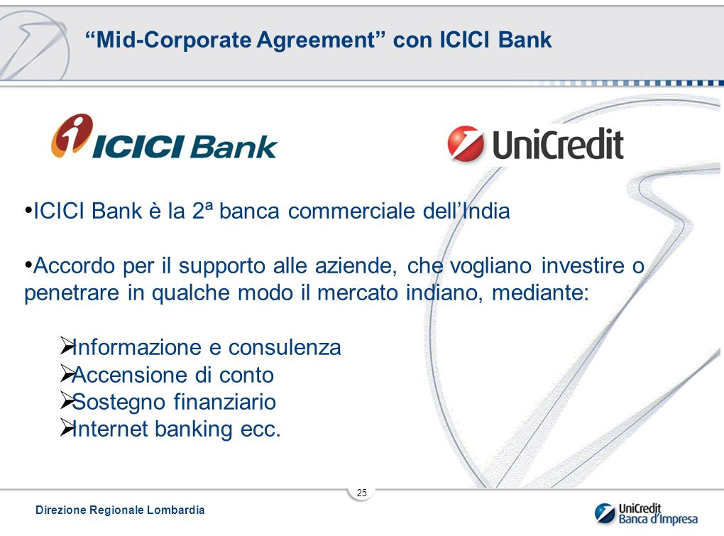 Mid-Corporate Agreement con ICICI Bank