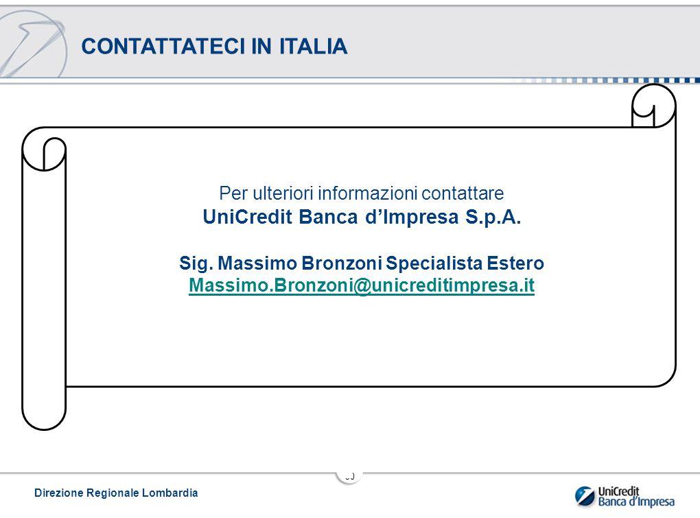 CONTATTATECI IN ITALIA