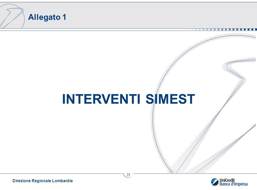 Allegato 1 INTERVENTI SIMEST Direzione Regionale Lombardia
