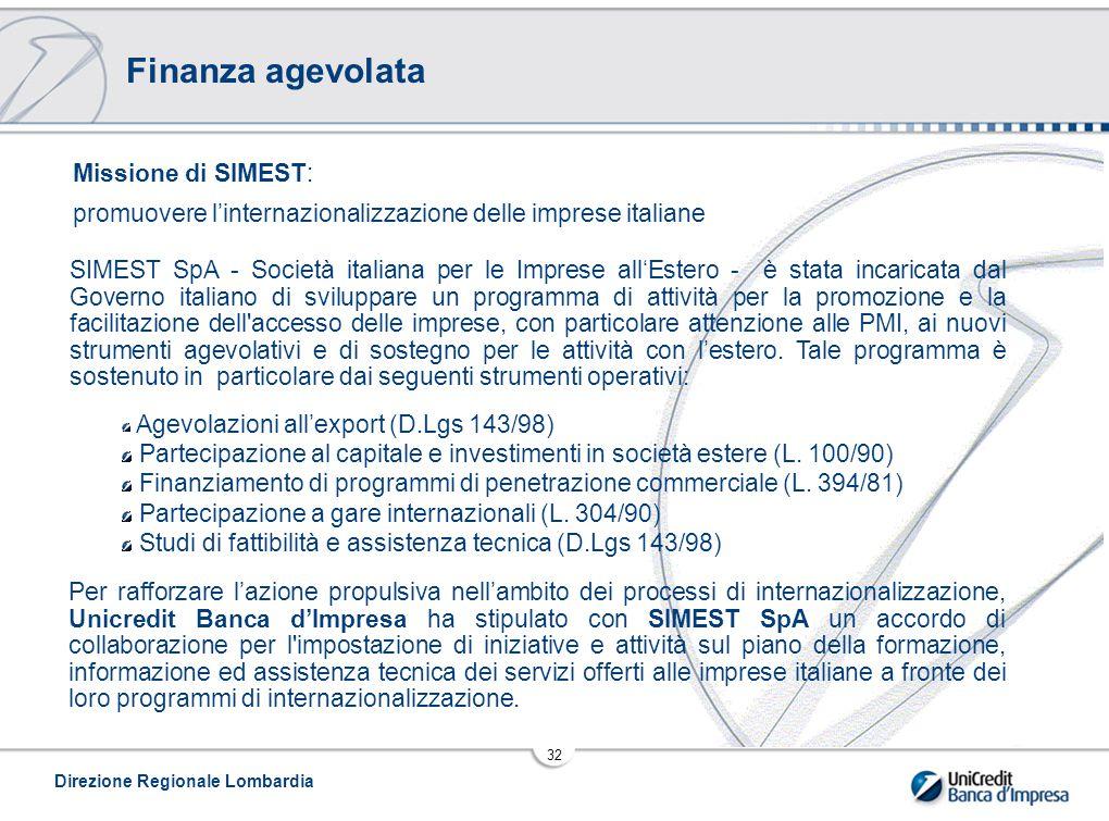 Finanza agevolata Missione di SIMEST: