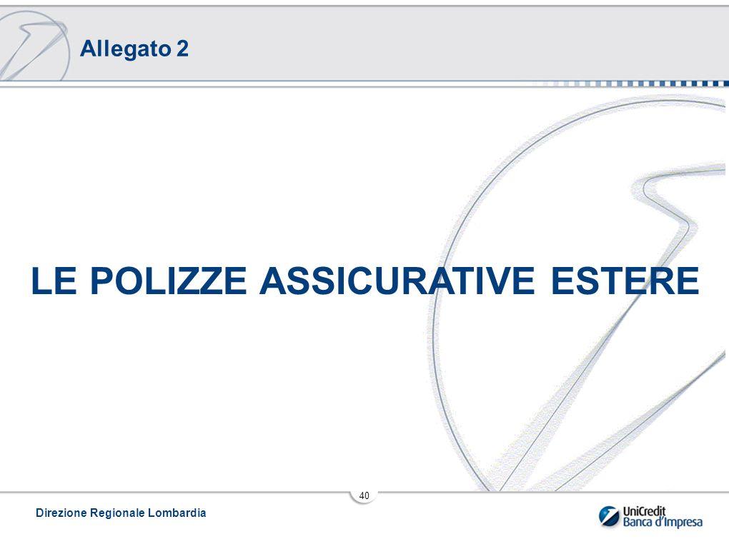 LE POLIZZE ASSICURATIVE ESTERE