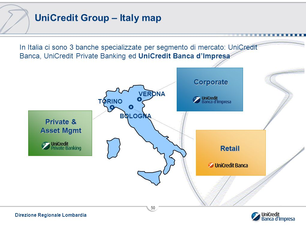 UniCredit Group – Italy map