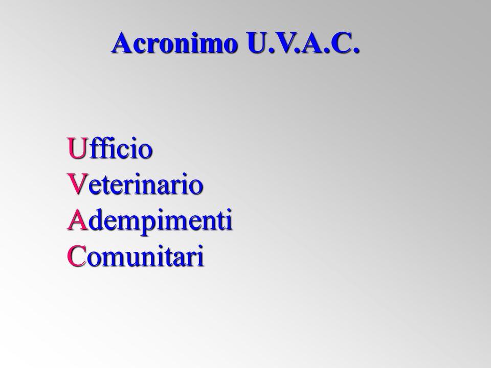 Ufficio Veterinario Adempimenti Comunitari