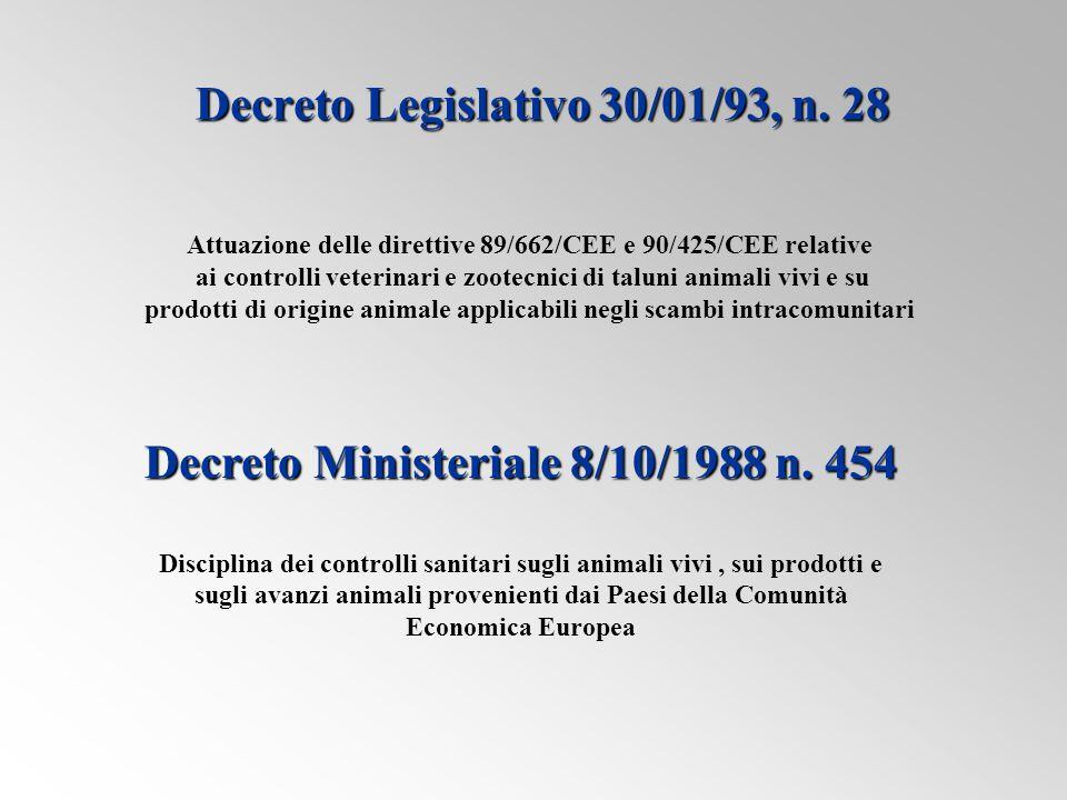 Decreto Legislativo 30/01/93, n. 28