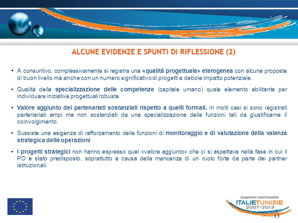 ALCUNE EVIDENZE E SPUNTI DI RIFLESSIONE (2)