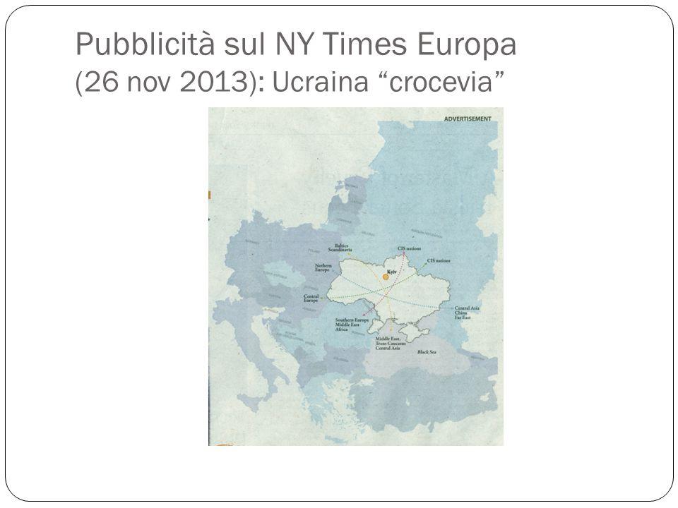 Pubblicità sul NY Times Europa (26 nov 2013): Ucraina crocevia