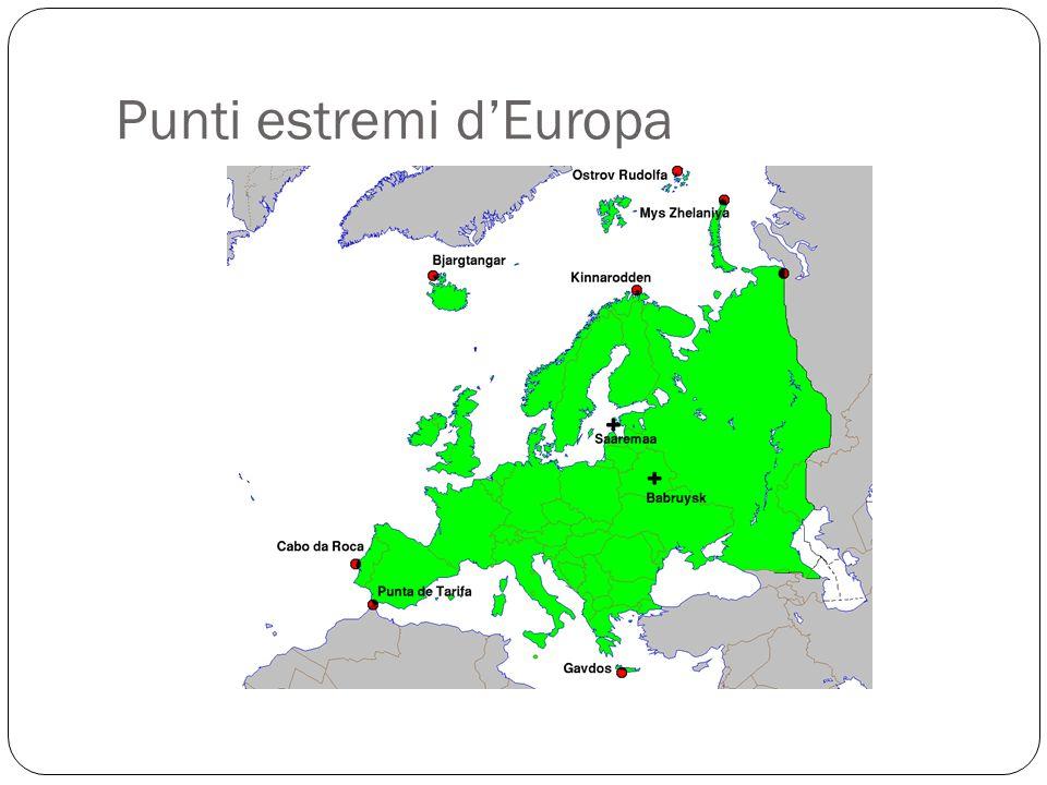 Punti estremi d'Europa