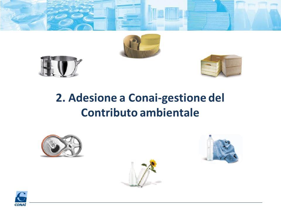 2. Adesione a Conai-gestione del Contributo ambientale