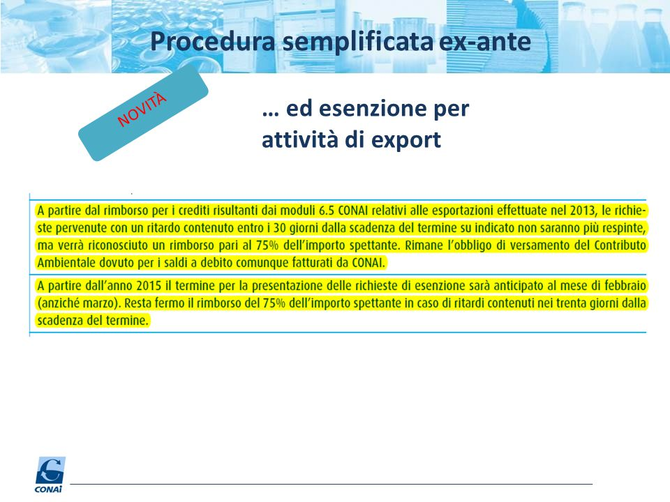 Procedura semplificata ex-ante
