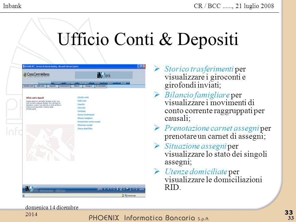 Ufficio Conti & Depositi