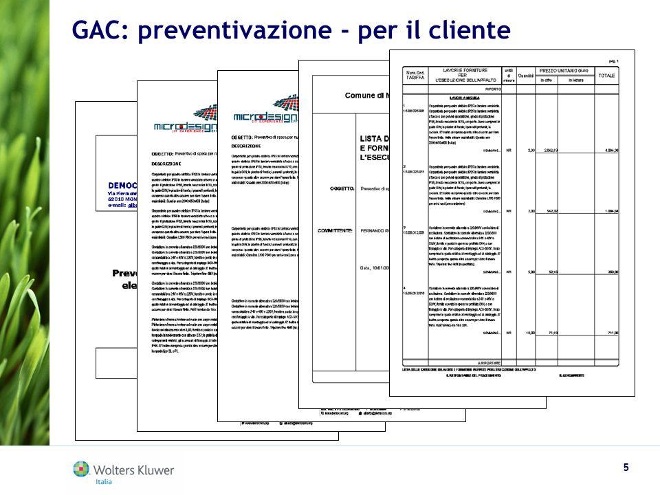 GAC: preventivazione - per il cliente