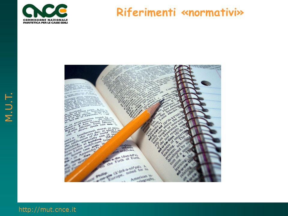 Riferimenti «normativi»