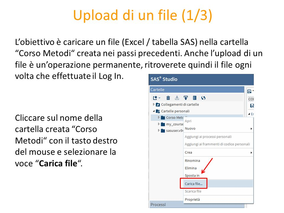 Upload di un file (1/3)