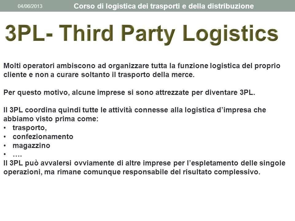 3PL- Third Party Logistics