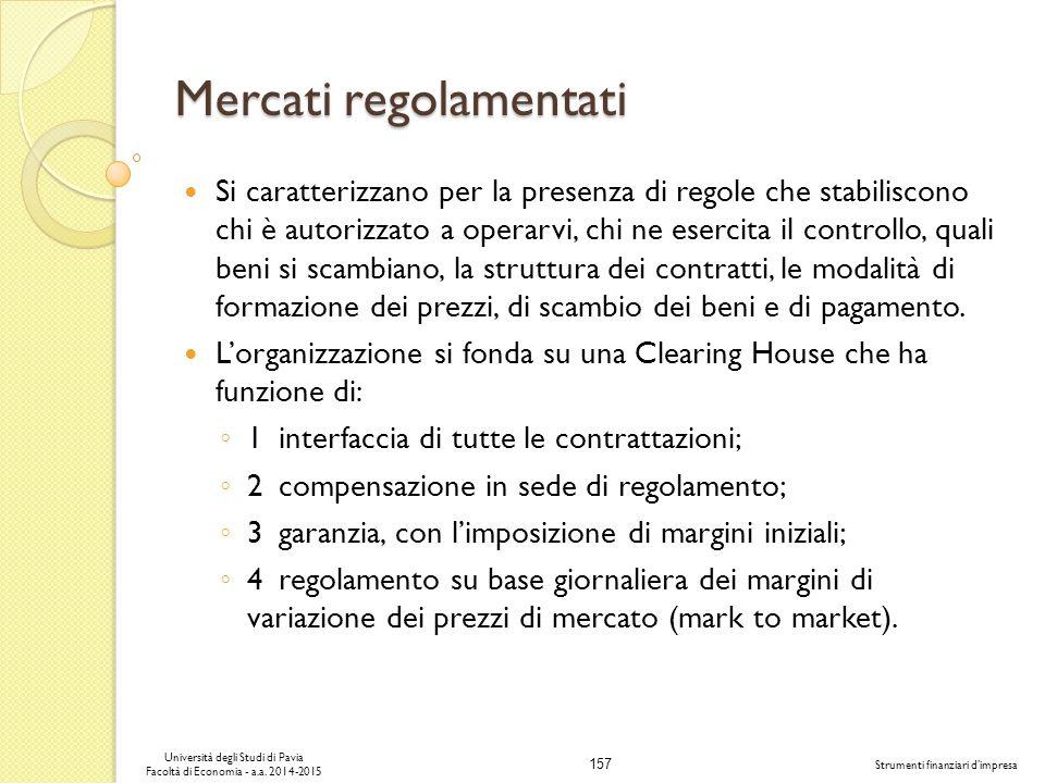 Mercati regolamentati