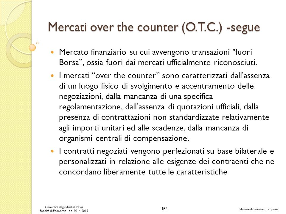 Mercati over the counter (O.T.C.) -segue