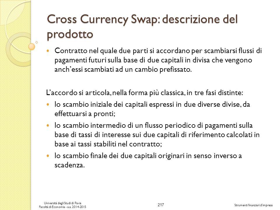 Cross Currency Swap: descrizione del prodotto