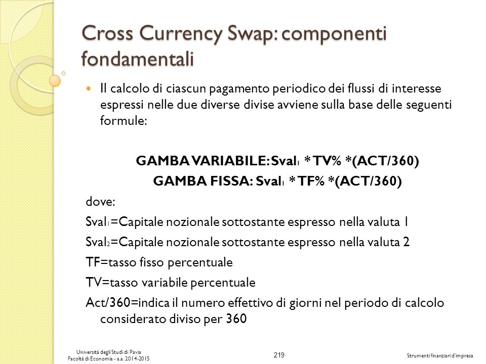 Cross Currency Swap: componenti fondamentali