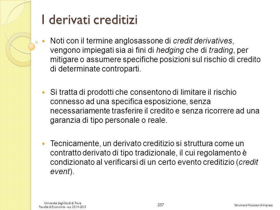 I derivati creditizi