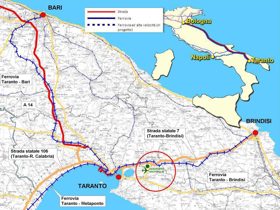 Ferrovia Ferrovia ad alta velocità (in progetto) Strada