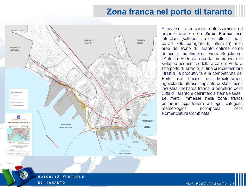 Zona franca nel porto di taranto