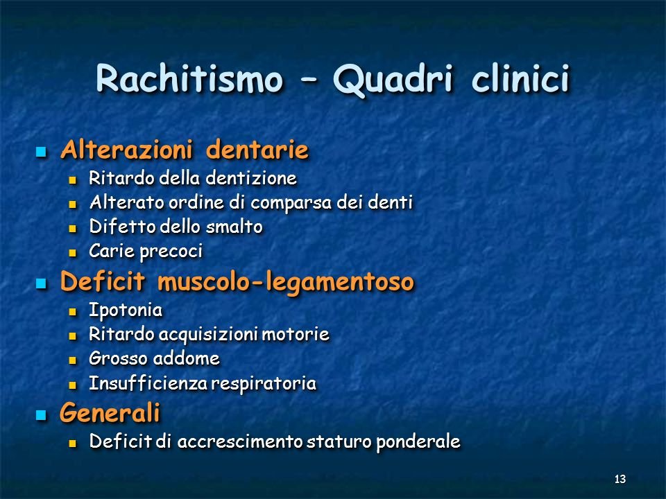 Rachitismo – Quadri clinici