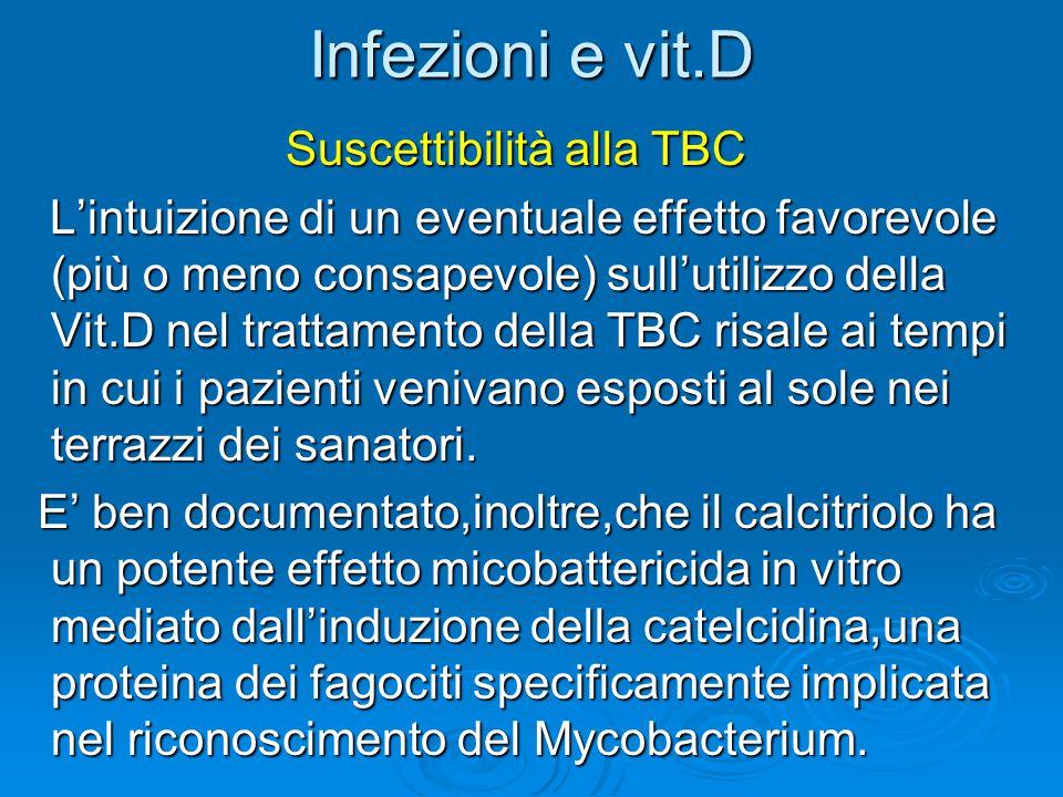 Infezioni e vit.D Suscettibilità alla TBC