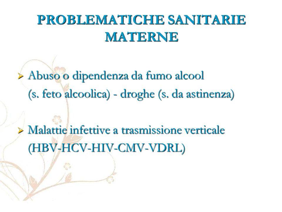 PROBLEMATICHE SANITARIE MATERNE