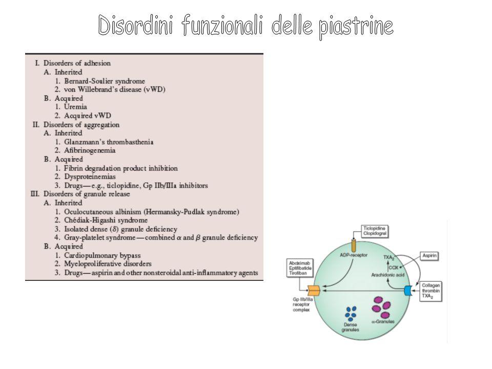 Disordini funzionali delle piastrine