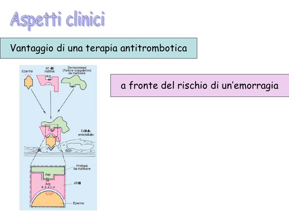 Aspetti clinici Vantaggio di una terapia antitrombotica