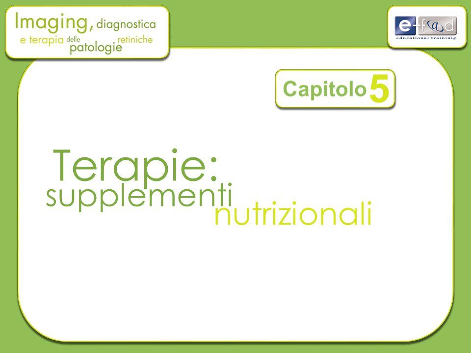5 Capitolo Terapie: supplementi nutrizionali