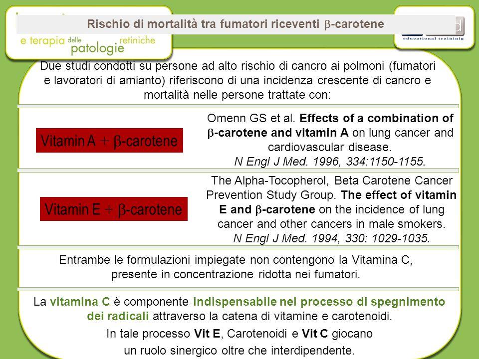 Rischio di mortalità tra fumatori riceventi b-carotene