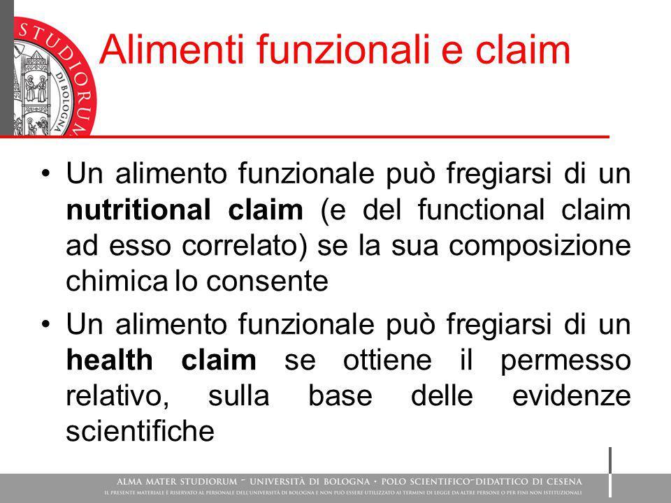 Alimenti funzionali e claim