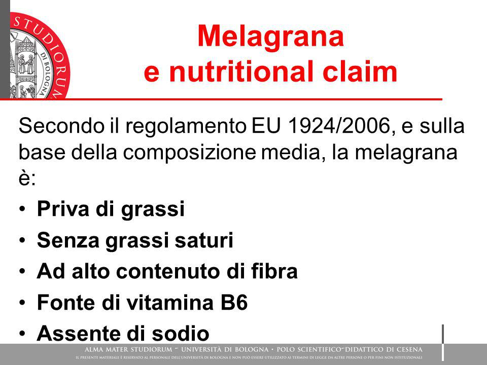 Melagrana e nutritional claim