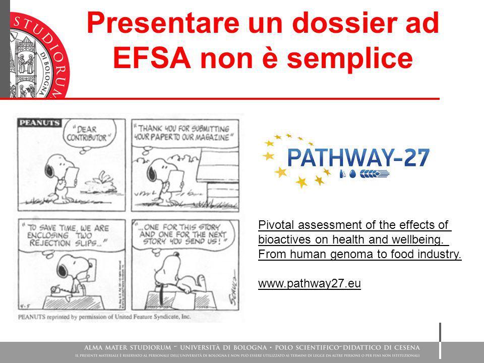 Presentare un dossier ad EFSA non è semplice