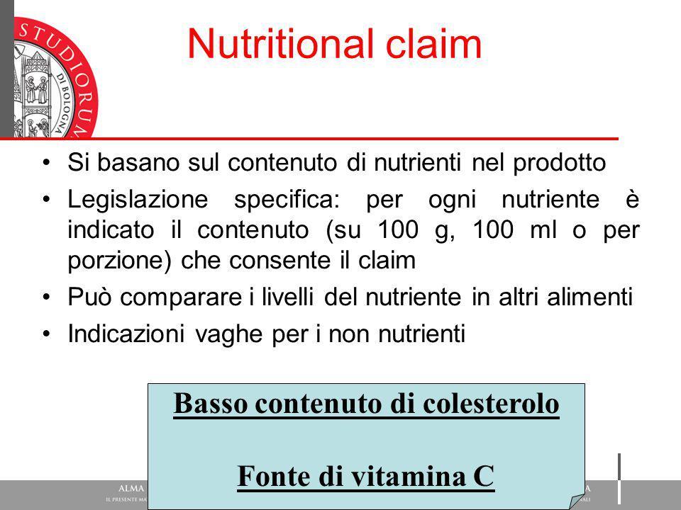 Basso contenuto di colesterolo