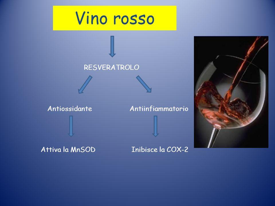 Vino rosso RESVERATROLO Antiossidante Antiinfiammatorio