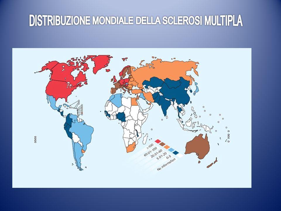 DISTRIBUZIONE MONDIALE DELLA SCLEROSI MULTIPLA