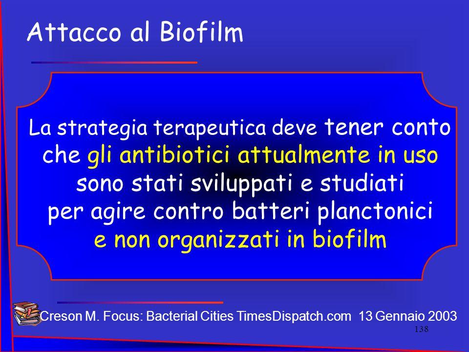 Attacco al Biofilm