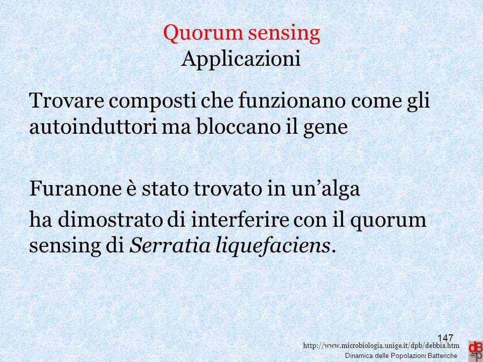 Quorum sensing Applicazioni