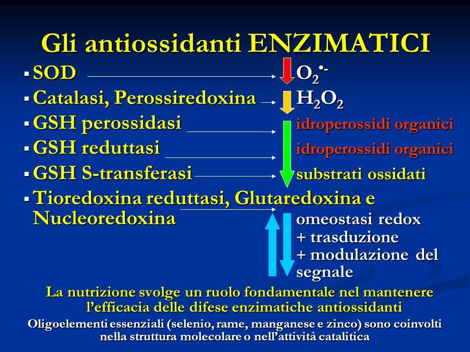 Gli antiossidanti ENZIMATICI