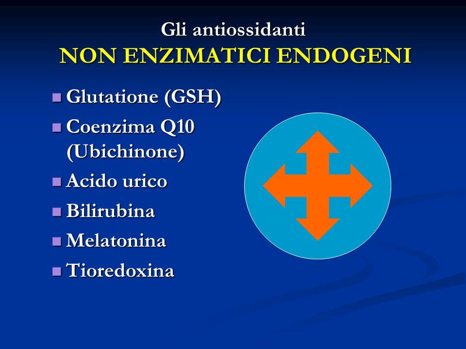 Gli antiossidanti NON ENZIMATICI ENDOGENI