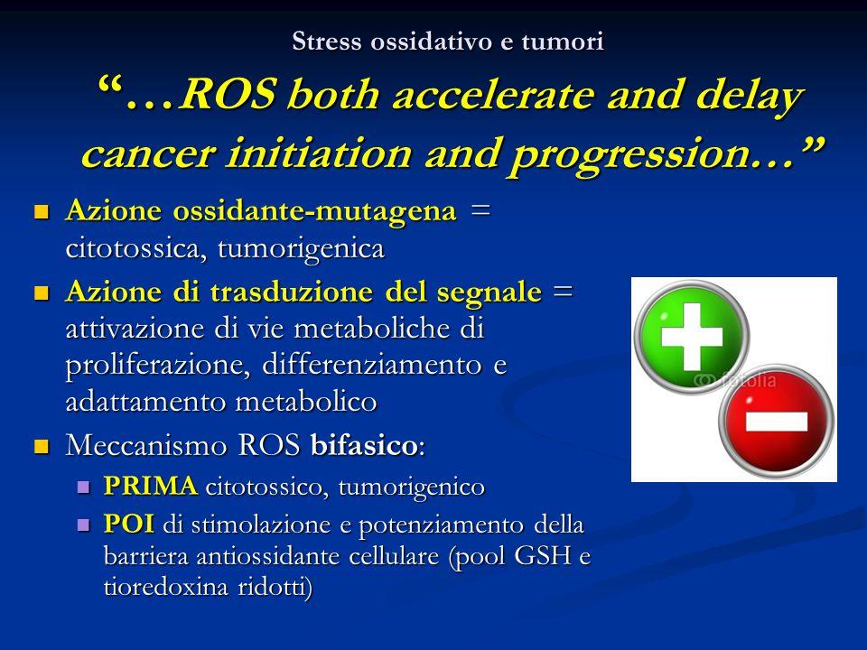 Azione ossidante-mutagena = citotossica, tumorigenica