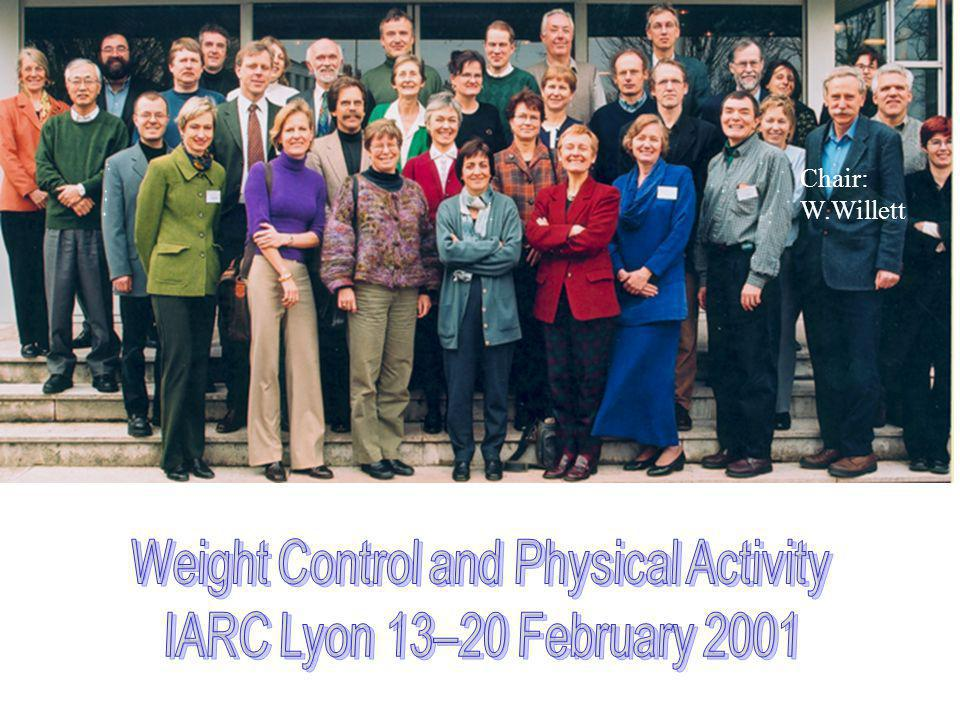 Weight Control and Physical Activity
